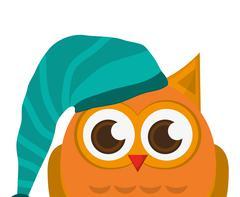 Owl cartoon icon Stock Illustration