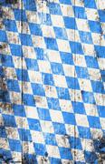 Oktoberfest background with blue and white rhombus pattern Stock Photos