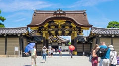 KYOTO, JAPAN:  Nijo Castle entrance timelapse Stock Footage