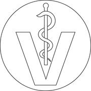 Button symbol veterinary Stock Illustration