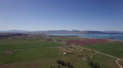 Aerial Panoramic of Flourishing Flathead Lake - stock footage