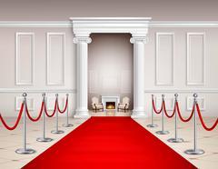 Red Carpet Interior Stock Illustration