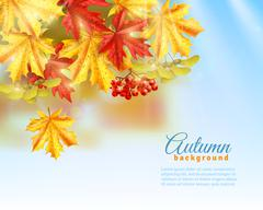 Flat Autumn Background Stock Illustration