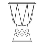 single djembe icon - stock illustration