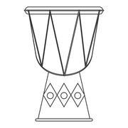 Single djembe icon Stock Illustration