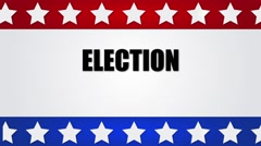 Election 2016/ Red, white and blue motion graphic Stock Footage