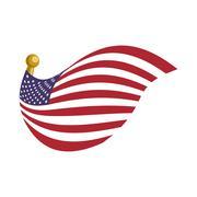 United states usa flag Stock Illustration