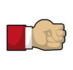 Hand human gesture fingers palm icon. Vector graphic Stock Illustration