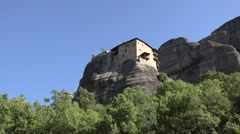 Monastery of St. Nicholas Anapausas. Meteora, Greece Stock Footage