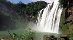 Huangguoshu Waterfall (Yellow-Fruit Tree Waterfalls) Stock Footage