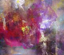 Abstract oil painting on canvas Stock Illustration