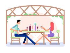 Romantic date design Stock Illustration
