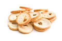 mini bread chips - stock photo