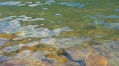 Closeup of Slow Motion Waves on a Lake Stock Footage
