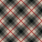 Diagonal seamless fabric pattern in gray and red Stock Illustration