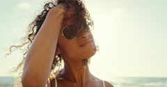 Beautiful Mixed Race Young Woman Stock Footage