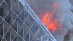 Central Department Store Burns Bomb Terror Attack Terrorist Blast Building 9719 Stock Footage