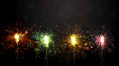 Party sparkler. Bengal fire. Stock Footage