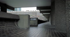 Brutalist architecture, Barbican Estate, City of London, UK Stock Footage