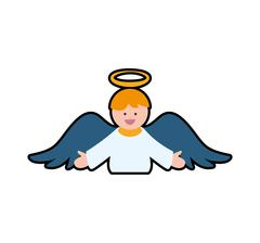Angel cartoon fairy wing heaven icon. Vector graphic Stock Illustration