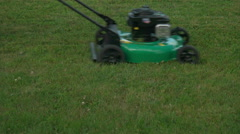 Lawn Mower Close up. Stock Footage