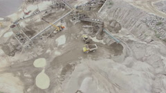 Aerial view of a sandstone quarry with processing lines Stock Footage