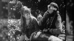 Hippies Smoke Weed Dope Marijuana Grass 1960s Vintage Film Home Movie 9764 - stock footage
