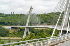 Terenez bridge in Brittany Stock Photos