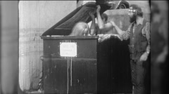 Homeless People in Dumpster Affordable Housing Vintage Film Home Movie 9752 Stock Footage