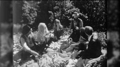 Hippies People Love In Smoke Marijuana Picnic 1960s Vintage Film Home Movie 9756 Stock Footage