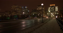 Mackenzie King Bridge at Night in Downtown Ottawa Stock Footage