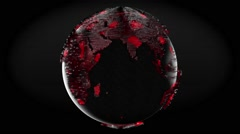 Planet Earth. Polygonal geometric surface of globe. - stock footage