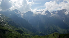 View from Grossglockner High Alpine Road on mountains in Alps Stock Footage
