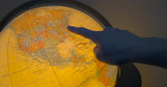 Student Maps Travel Plans for Study Abroad Trip Stock Footage