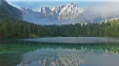 The lakes of Fusine, Friuli, Italy Stock Footage