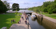 A Summers Day At The Ottawa Locks Stock Footage