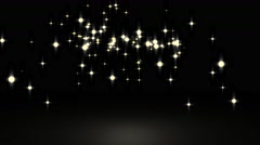 Glowing star particle background Stock Footage