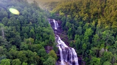 Aerial of Whitewater Falls Highest Falls On The East Coast Stock Footage