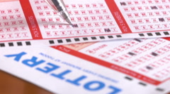 Filling Out Lottery Tickets - stock footage