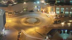 Traffic Roundabout  Dubai. Stock Footage