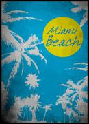 Beach watercolor tee graphic design Stock Illustration