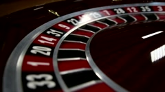 Close-up of roulette at the Casino Stock Footage