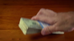 Stack of Money Stock Footage