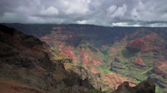 Waimea Canyon on the island of Kauai, Hawaii Stock Footage
