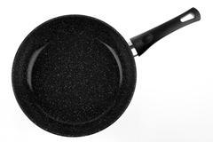Frying pan on plain background Stock Photos