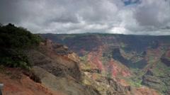 Waimea Canyon on the island of Kauai, Hawaii Stock Footage