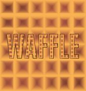 Waffle plaid square logo with text Stock Illustration