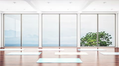 Yoga Class Interior Stock Footage