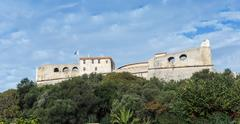 Fort Carre walls in Antibes Stock Photos
