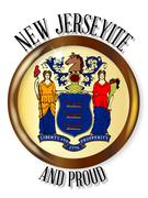 New Jersey Proud Flag Button Piirros